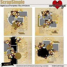 ScrapSimple Digital Layout Templates:story of autumn