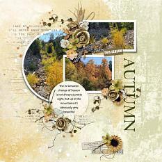 Layout using ScrapSimple Digital Layout Collection:story of autumn