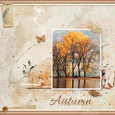 """""""Autumn"""" digital scrapbooking layout using Autumn Blessings Collections"""