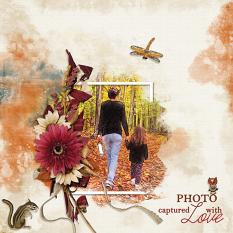 """""""Photo Captured With Love"""" digital scrapbooking layout using Autumn Blessings Collections"""