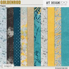Goldenrod #digitalscrapbooking Papers by AFT Designs - Amanda Fraijo-Tobin @ScrapGirls.com