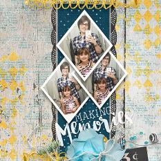 """Making Memories"" #digitalscrapboooking layout by AFT Designs - Amanda Fraijo-Tobin"