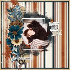 """""""Cooper and Axel"""" digital scrapbooking layout using Autumn Blessings Collections"""