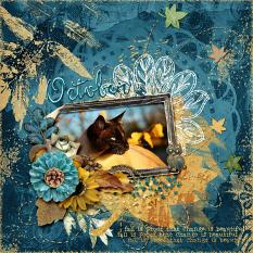Layout using October Eves Page Edges
