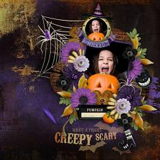 Layout using All Hallow's Eve Collection
