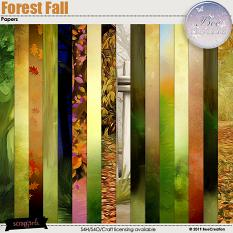 Forest Fall Papers by BeeCreation