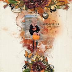 Memories are Forever digital scrapbooking layout using Autumn Blessings Collections
