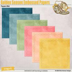 Golden Season Embossed Papers by Silvia Romeo