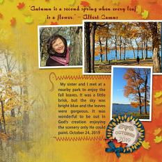 """""""Autumn Leaves"""" digital layout showcases SSDLAT: Simply Blended, Series 1"""