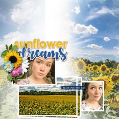 """""""Sunflower Dreams"""" digital layout features SSDLAT: Simply Blended, Series 2"""