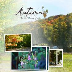 """""""Autumn"""" digital layout features SSDLAT: Simply Blended, Series 2"""