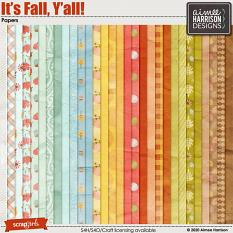 It's Fall Y'all Papers