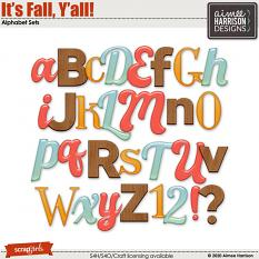 It's Fall Y'all Alpha Sets