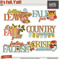 It's Fall Y'all Titles