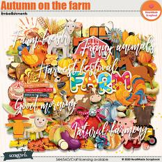 Autumn on the farm embellishments by HeartMade Scrapbook