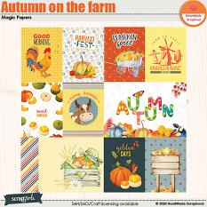 Autumn on the farm cards by HeartMade Scrapbook