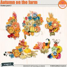 Autumn on the farm clusters pack 1 by HeartMade Scrapbook