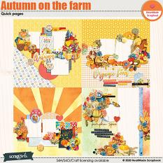 Autumn on the farm quick pages by HeartMade Scrapbook
