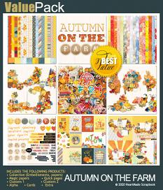 Value pack: Autumn on the farm by HeartMade Scrapbook