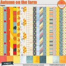 Autumn on the farm papers by HeartMade Scrapbook