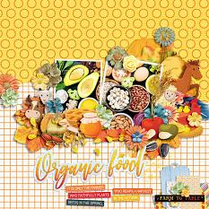 Layout using Autumn on the farm by HeartMade Scrapbook