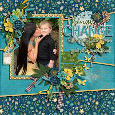 CT Layout using Things Change by Connie Prince