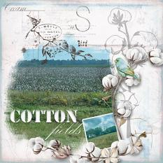 Layout using ScrapSimple Digital Layout Collection:cotton