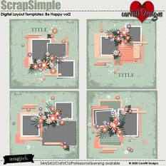 ScrapSimple Digital Layout Templates:be happy2
