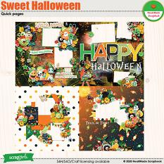 Sweet Halloween quick pages by HeartMade Scrapbook