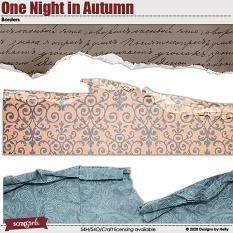 One Night in Autumn Borders by Designs by Helly