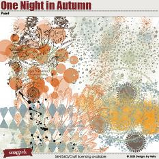 One Night in Autumn Paint by Designs by Helly