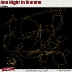 One Night in Autumn Squiggles by Designs by Helly