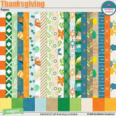 Thanksgiving - papers by HeartMade Scrapbook