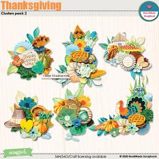 Thanksgiving clusters pack 2 by HeartMade Scrapbook