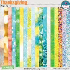 Thanksgiving - magic papers by HeartMade Scrapbook