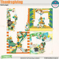 Thanksgiving quick pages by HeartMade Scrapbook