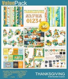 Value pack: Thanksgiving by HeartMade Scrapbook