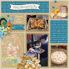 Layout using Thanksgiving by HeartMade Scrapbook