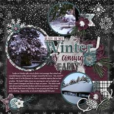 CT Layout using Winter Is Coming by Connie Prince