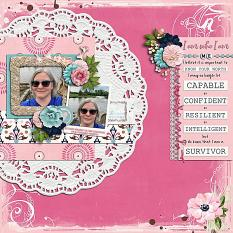 CT Layout using White Space 12x12 Templates Vol 52 by Connie Prince