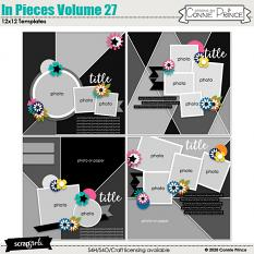 In Pieces 12x12 Templates Vol 27 by Connie Prince