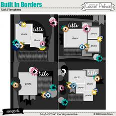 Built In Borders 12x12 Templates Vol 2 by Connie Prince