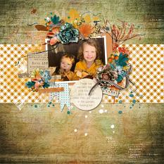 Layout using ScrapSimple Digital Layout Collection:Color Series vol1