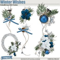 Winter Wishes Embellishment Mini Clusters