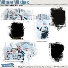 Winter Wishes Embellishment Mini Lifted Photos