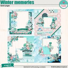 Winter memories - quick pages by HeartMade Scrapbook