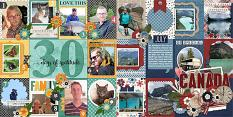 CT Layout using 30 Days Of Gratitude 12x12 Templates by Connie Prince