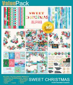 Value pack: Sweet Christmas by HeartMade Scrapbook