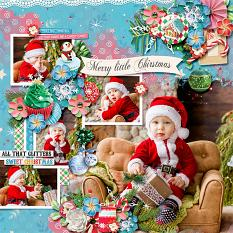 Layout using Sweet Christmas by HeartMade Scrapbook