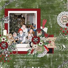 CT Layout using Cozy Christmas by Connie Prince